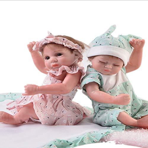 Candyana Twin Reborn Dolls 28cm Mini Simulation Baby Realistic Winking Girl Cute Closed Eyes Boy Xmas Geschenke,28cm