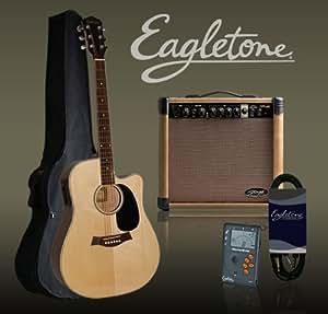 Packs guitare EAGLETONE STAGG 40 WATTS NATUREL Packs électro acoustique