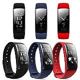 QS90 Fitness-Tracker mit Herzfrequenzmesser und Armband, wasserdicht, mit Blutdruckmesser, Schlafüberwachung, Anruferinnerung, Schrittzähler, für Android/iOS