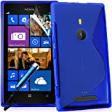 Supergets� Premium Wave Hydro Gel Case Cover For Nokia Lumia 925, Includes Screen Protector, Stylus and Polishing Cloth