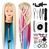 "Neverland Beauty 26"" 100% Synthetic Fiber Hair Hairdressing Training Head Manikin Doll Multicolored"