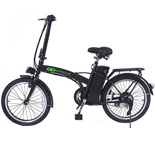 20 Zoll Elektrofahrrad E-Bike Klappfahrrad Elektro Fahrrad Faltrad klappbar faltbar mit Akku (schwarz)