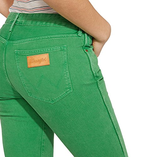 Wrangler Cropped Straight, Jeans Dritto Donna Cropped Green 121