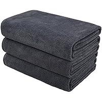 Hope Shine microfibra asciugamano palestra sportive asciugamani asciugamani spugna viaggio o campeggio 40cm X80cm 3-pack ( Grigio)