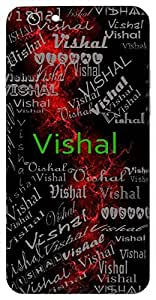 Vishal (Huge, Broad, Great) Name & Sign Printed All over customize & Personalized!! Protective back cover for your Smart Phone : Moto G-4
