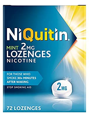 NiQuitin Mint Lozenges, 2 mg, Pack of 72 Lozenges from NiQuitin