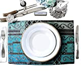 """Best unknown Friend Customized Gifts - Artbisons Placemats 16x12"""" Sets of 6 Blue Abstract Review"""