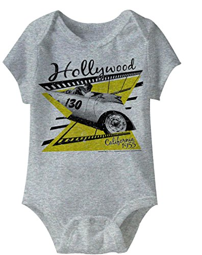 James Dean - - Unisexe-Bébé Cali 55 Onesie, 12M, Gray Heather