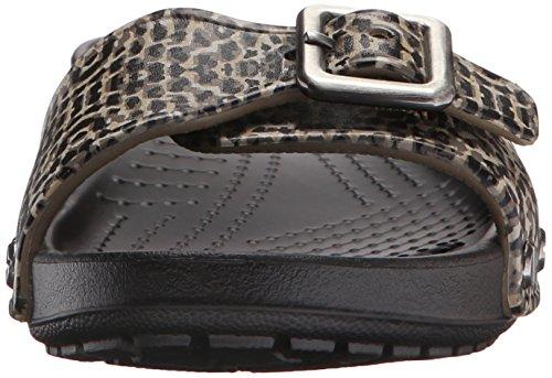 Crocs Sarah Leopard W, Ballerines Femme Noir (Black)