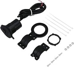 Funnyrunstore USB Motorrad Handy Ladebuchse USB Wasserdichte Stromversorgung 12-24 V Motorrad Ändern USB Ladegerät Adapter Zubehör (Farbe: Schwarz)