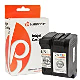Bubprint 2 Druckerpatronen kompatibel für HP 15 & HP 78 für Deskjet 3810 3816 3820 3822 916C 920C 940C Officejet 5105 5110 PSC 720 750 950 Black Color