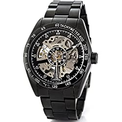 Alienwork IK Automatic Watch Self-winding Skeleton Mechanical Stainless Steel black black 98176G-A