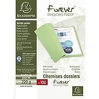 Exacompta 410009E - Lote de 100 Subcarpetas Forever® 250, Color Gris