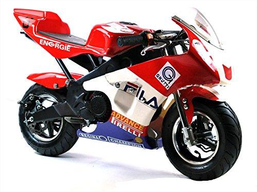 FunBikes MT4A 50cc 46cm Mini Moto Racing Bike 3 colours designs (Red White FI)