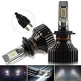Kashine H7 LED Phare Ampoule Kit de conversion 8000LM ZES Ampoules Rechange Voiture...