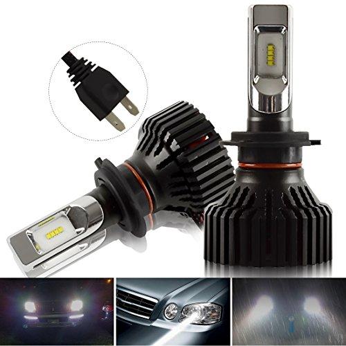H7 LED Faro Bulbi Auto - Kashine H7 LED Lampadina Luci 26W 8000LM Super Luminosa Lampada con ZES Chip per Auto / veicolo Faro Della Luce Delle Lampadine dell'automobile Kit LED Alogeno HID 6500K 12V