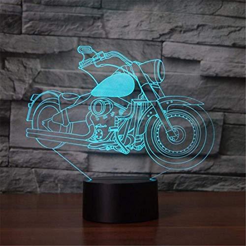 Led Night Light Spotlight 7 colori che cambiano 3D Moto Night Light Led Desk luminoso atmosfera Sleep Lighting