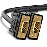 UGREEN Cavo VGA, Full HD 1080P VGA Cable Cavo VGA Maschio a Maschio Connettori Placcati in Oro 24K per Computer, Monitor, Proiettore, HDTV, Splitter Video e Switch KVM, ecc. (1M)
