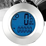 Leoie Luminous LCD Screen Bike Wireless Computer Cycling Odometer Speedometers for Tracking Riding