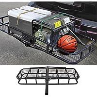 COMOTS Jr1863226,8Kilogram pour Bagages Pliable Panier en Acier Résistant Sac de Transport bac pour Camion SUV Remorque Récepteur d'attelage de