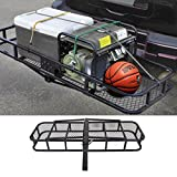 COMOTS JR1863 226,8 kilogram pieghevole bagagli cargo basket Heavy Duty Steel Carrier bagagli vassoio per SUV Truck trailer Receiver Hitch rack