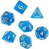 7pcs D4 D6 D8 D10 D12 D20 Juguete de Dados para Mazmorras Y Dragones Juego - Azul
