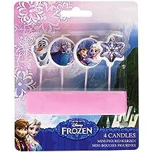 Frozen - 4 velas de cumpleaños de la Reina de la Nieve, 9 cm