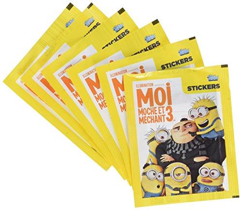Moi, Moche et Méchant - 6 Pochettes de 5 Autocollants sous blister - Cartes à Collectionner