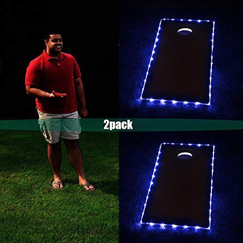 Blinngo Cornhole Board Edge Nachtlichter, beleuchtete LED-Beleuchtung,