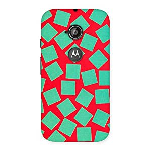 Green Red Print Back Case Cover for Moto E 2nd Gen
