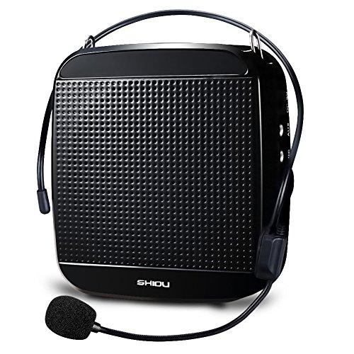 Zoweetek® voz amplificador 18W alta potencia salida megafonía con micrófonos para profesores guías(1200 mAh batería de litio)