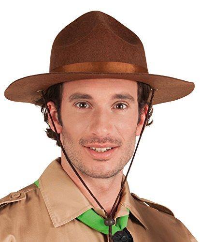 Boland 01383 - Erwachsenenhut Scout, Einheitsgröße, braun (Pfadfinder Kostüm Für Herren)