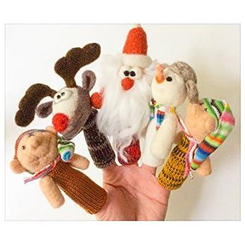Fingerpuppen Geschichte von Santa Santa Claus