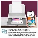 HP Tango X Drucker (Smart Home Drucker, kostenlos Fotos drucken mit HP Instant Ink, WLAN, Bluetooth, graues Wrap Pad) weiß/grau