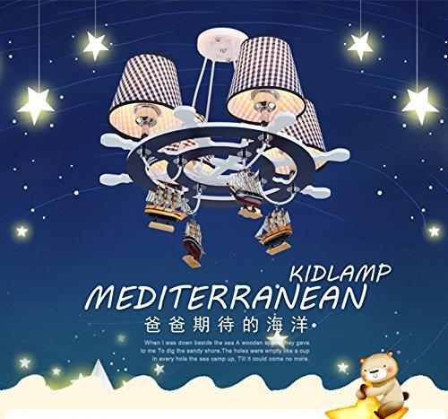 Die neue Steuer Mittelmeer LED-Leuchter kreative Schlafzimmer Auge Lampe Junge Kinder-Cartoon-Kunst - 3