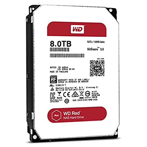 WD Red WD80EFZX 3,5 pouces Network Attached Storage 24x7 disque dur