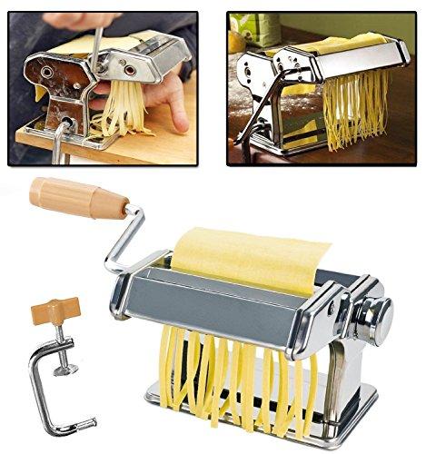 WTC manuelle Nudelmaschine Pasta Maker Pastamaschine Nudel Maschine für 7 verschiedenen Nudelstärken