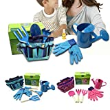 lailongp Little Gardener Tool Set With Bag Kids Children Gardening Boys Girls Gift Toys