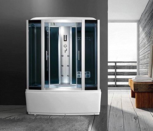 Box idromassaggio 170x85 con vasca cabina doccia cromoterapia radio I