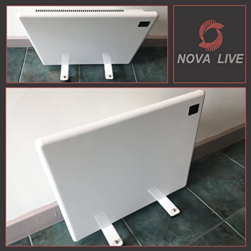 "1000w""Nova Live R"" White Electric Horizontal Panel Heater Including Feet – 24hr/7 Day Programming, 1KW Convector Heater – 500mm(w) x 400mm(h)"