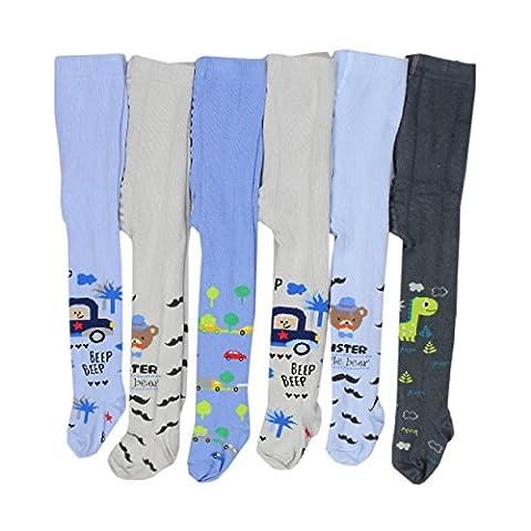 6er Set Baby Strumpfhosen Jungen Kinderstrumpfhosen Strickstrumpfhose Winterstrumpfhosen Baumwolle, Farbe: Farbenmix 2, Größe: