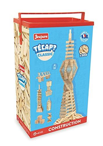 JeuJura - Jouet en bois - Construction - Tecap Classic - Baril 300 Planchettes
