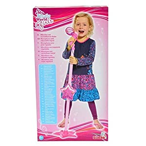 Simba 106830691 Girls Microphone Stand