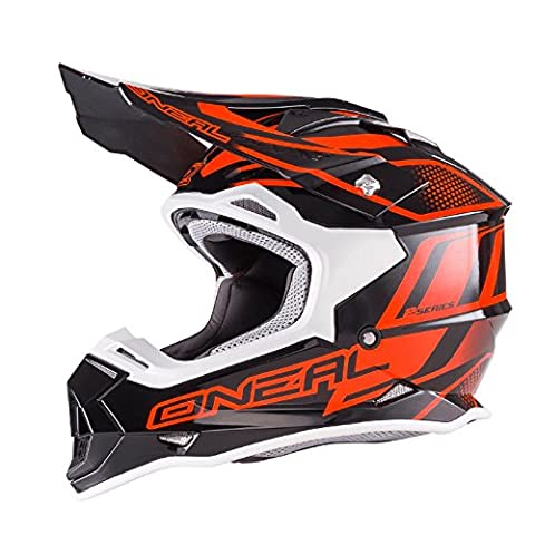 O'Neal 2Series RL MX Helm Manalishi Schwarz Orange Motocross Enduro Quad Cross ABS, 0200-01, Größe XL (61/62 cm)