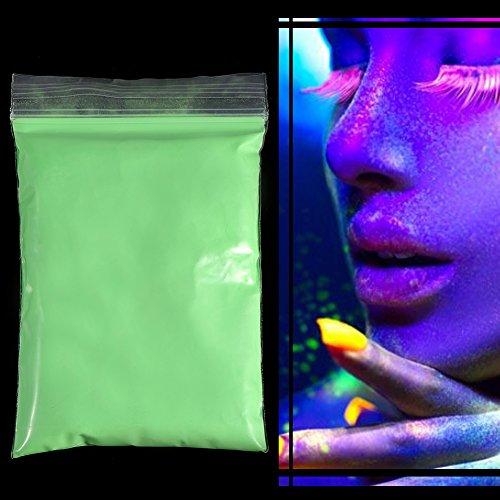 Polvo Pigmento Fluorescente Brillante Fotoluminiscente En Para Impresión Pintura Arte Clavo DIY(verde manzana)