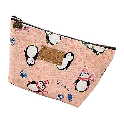 Organiseur sac de beauté petite pochette, sac cosmétiques, sac de maquillage de voyage, style pingouin