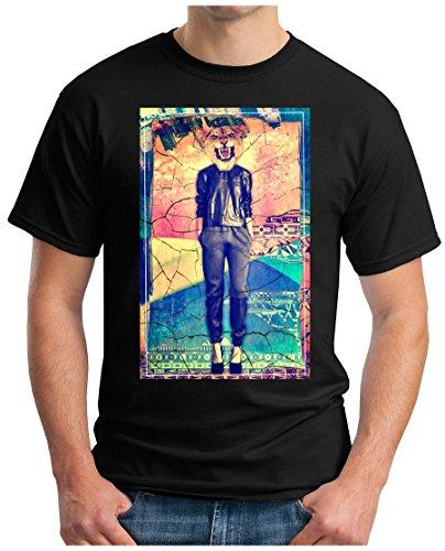 OM3 - LIONESS - T-Shirt GEEK, S - 5XL Schwarz