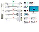 USB 3.1 Type C à Mini DisplayPort / Mini Adaptateur DP avec Support en Aluminium 4H@60Hz UHD pour MacBook Pro 2017/2016, Galaxy S8 (Sans Support Moniteur Thunderbolt Interface), Argent