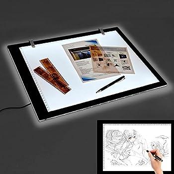 A4 LED LightPad Light Box Drawing Art Craft Tracing Modern Ultra-Slim Lightbox Pad Board Light Pad