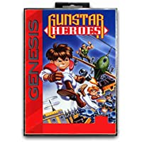 Jhana Gunstar Heroes avec boîte - Carte de jeu Sega 16 bits, MD pour Mega Drive pour Genesis NTSC (JAP Shell)